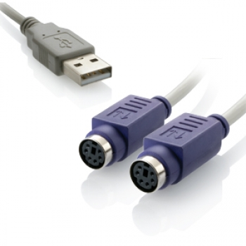 Cabo Conversor USB 2 Portas PS2 WI046 - Multilaser