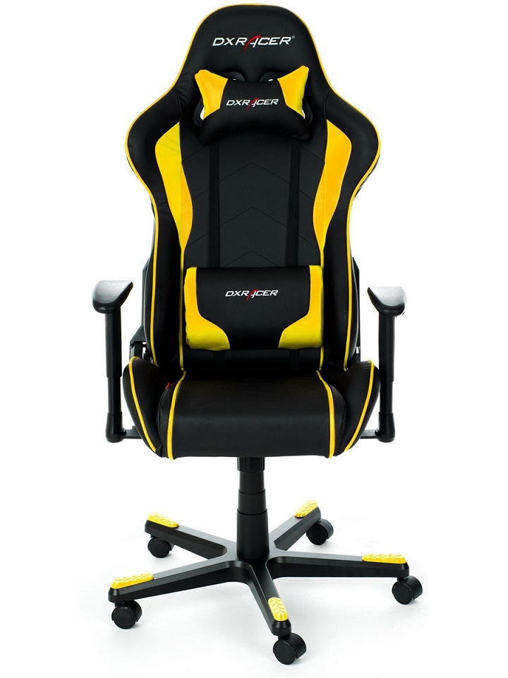 Cadeira F-Series FH08/NY Black/Yellow - DXRacer