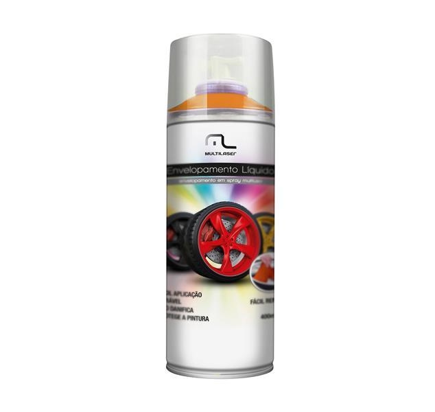 Spray Envelopamento Liquido Laranja Fluorescente 400ml AU426 - Multilaser