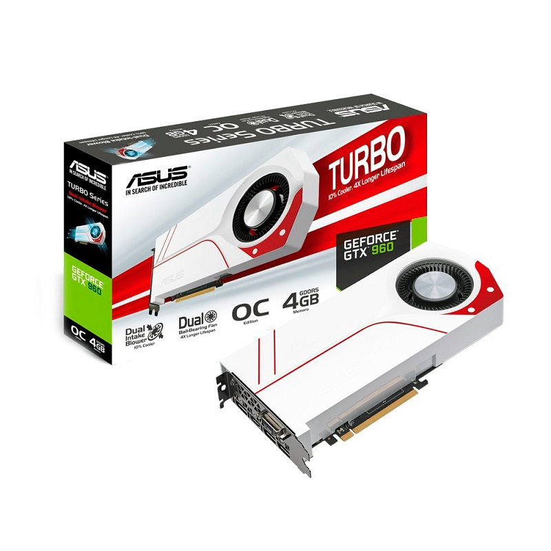 Placa de Vídeo Geforce GTX960 4GB OC Turbo 128Bits PCI 3.0 D5 90-YV07NA-M0NA00 - Asus