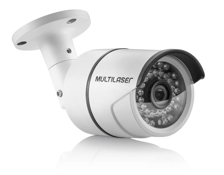 Câmera de Segurança Bullet TVI 1080P LED 3.6mm 36LEDS Metal Branca SE164 - Multilaser
