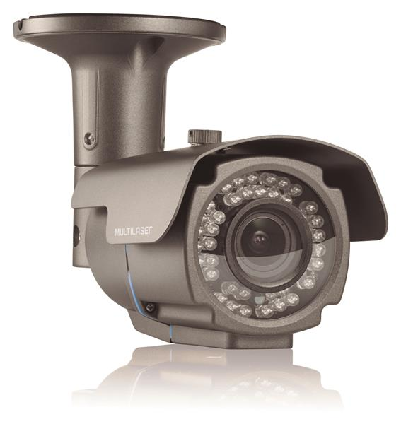 Câmera Bullet Varifocal 1080P LED 2.8-12mm 72 Leds Metal SE165 - Multilaser