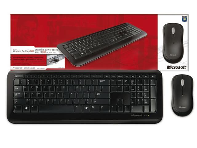 Teclado e Mouse Óptico Desktop 800 Wireless 2LF-00023 - Microsoft