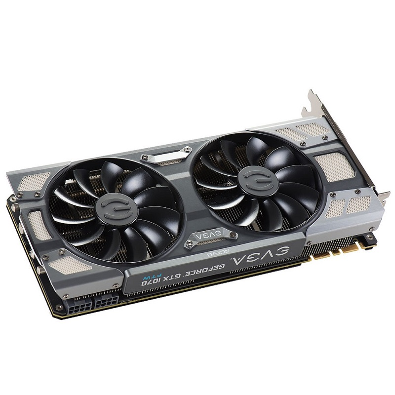Placa de Vídeo GeForce GTX 1070 FTW Gaming ACX 3.0 8GB DDR5 256BITS 08G-P4-6276-KR - EVGA