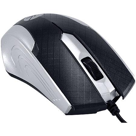 Mouse Optico USB MB71 1200DPI Preto/Prata - Vinik