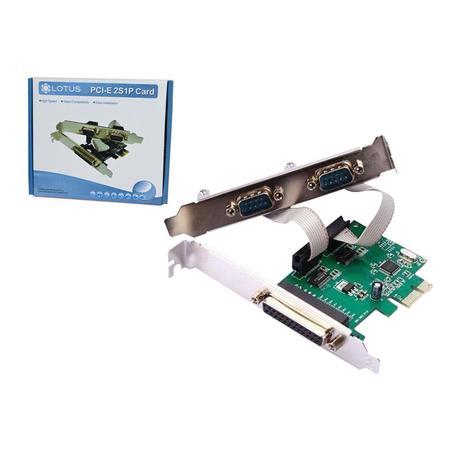 Placa PCI-Express 2 Seriais e 1 Paralela PC0012 - Lotus
