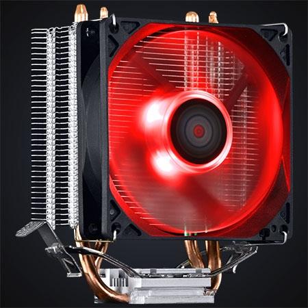 Cooler para Processador Zero KZ2 92mm LED Vermelho ACZK292LDV - Pcyes
