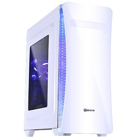 Gabinete Mid Tower VX Gaming Cyclone V2 Branco, Led Azul 25341 - Vinik