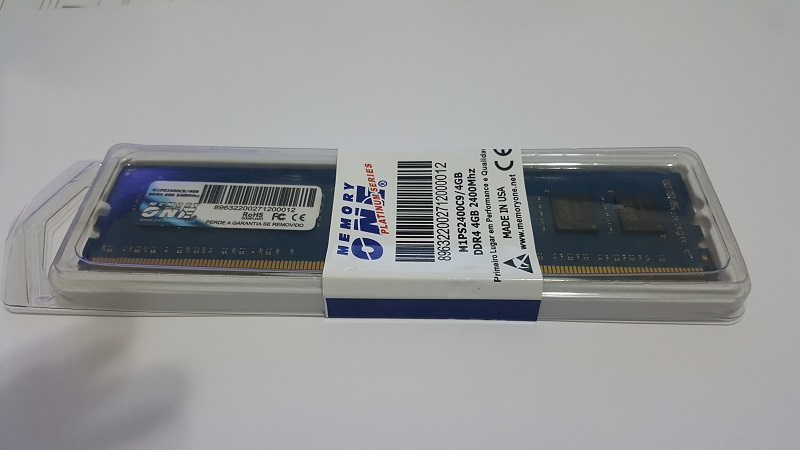 Memória para Desktop 4GB DDR4 2400Mhz M1PS2400C9/4GB - Memory One