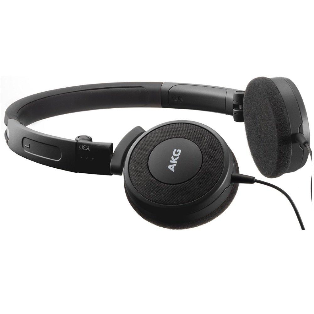 Fone de Ouvido Y30 Preto com Cotrole/Microfone Universal Y30UBLK - AKG