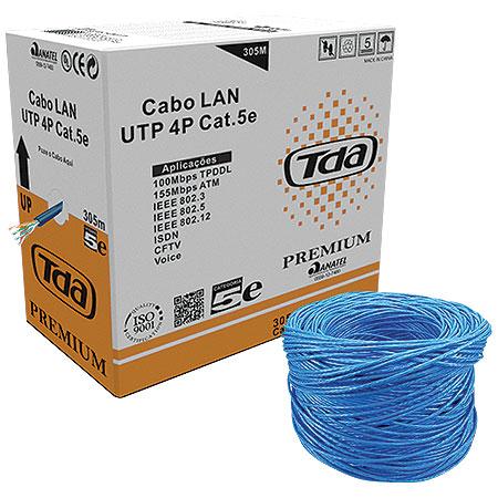 Caixa de Cabo Lan CAT5 UTP 24AWG 4P 305 Metros Azul 18914 - Tenda