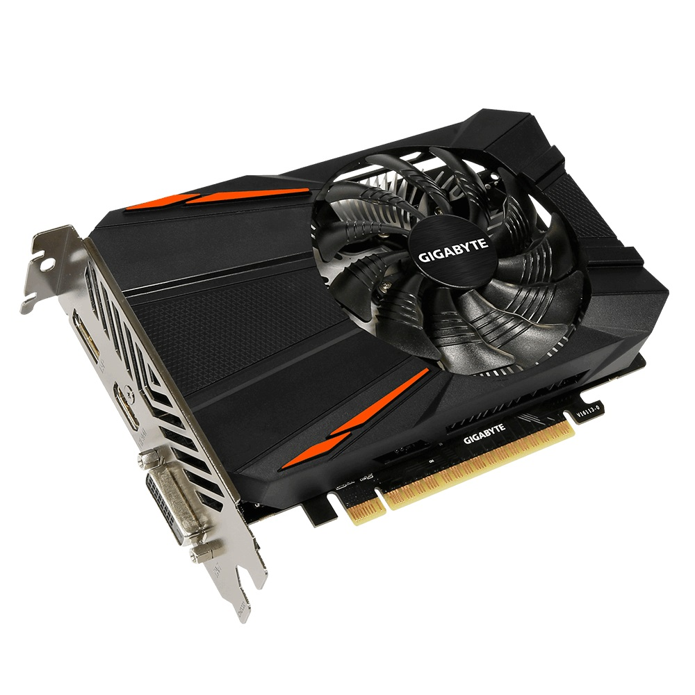 Placa de Vídeo GeForce GTX 1050 Ti DDR5 4GB GV-N105TD5-4GD - Gigabyte