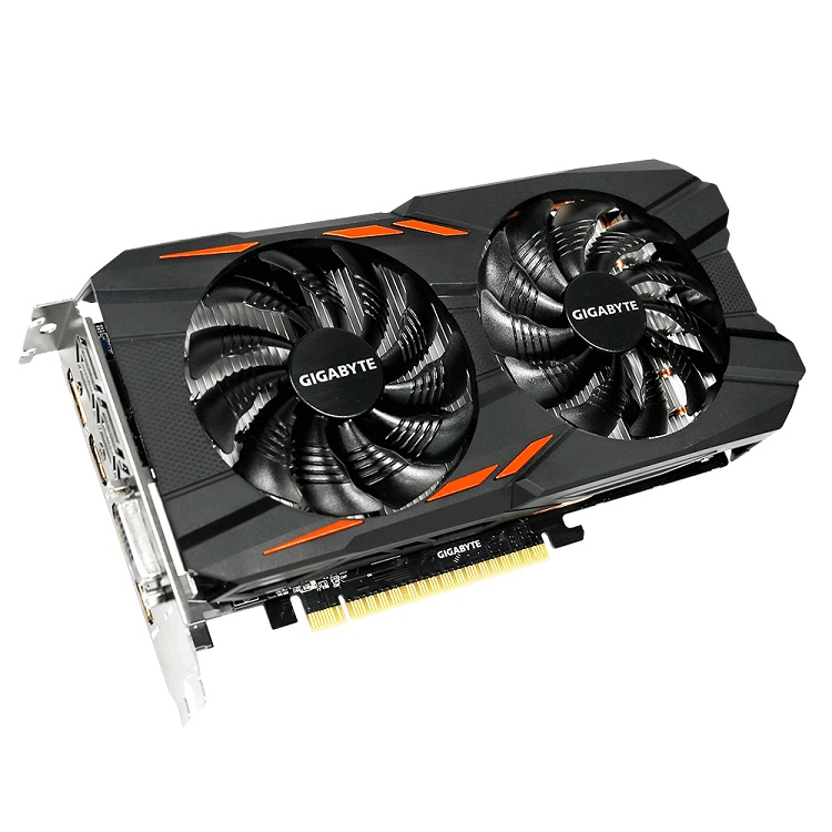 Placa de Vídeo Geforce GTX 1050 2GB OC Windforce 2x DDR5 GV-N1050WF2OC-2GD - Gigabyte