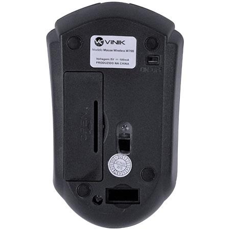 Mouse sem Fio W700 1000DPI Preto 25363 - Vinik