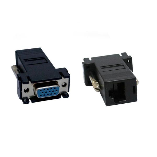 Adaptador VGA Femea para RJ45 Femea AD0221 - OEM