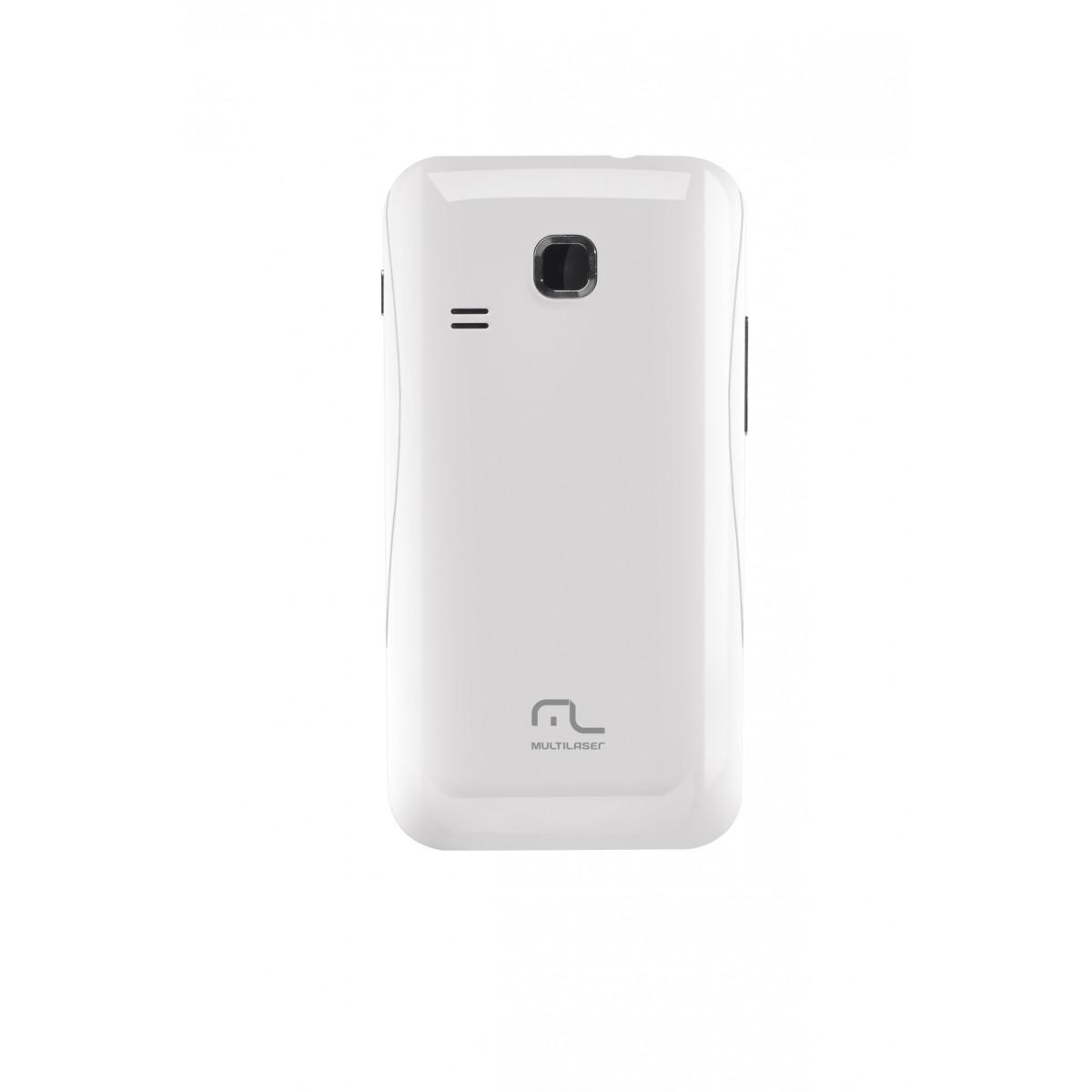 Smartphone Multilaser Dual Chip P3182 3G Android 2.3 Processador 1.0Ghz Tela de 3.5p Branco