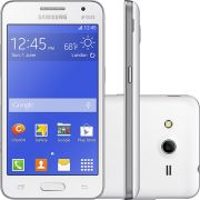Smartphone Galaxy Core 2 Duos G355M, Quad Core, Android 4.4, Tela de 4.5, 4GB, 5MP, 3G, Dual Chip, Branco - Samsung