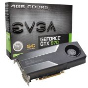 Placa de Vídeo GeForce GTX970 4GB DDR5 Superclocked 04G-P4-1972-KR - EVGA