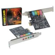 Placa de Som PCI-Express 5 Canais PC0041 - OEM