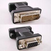 Adaptador DVI-I Macho X VGA DB15 Femea - Glacon