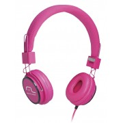 Fone HeadFun - Microfone para Celular Rosa PH088 - Multilaser