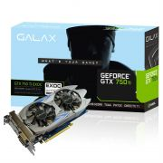 Placa de Vídeo Geforce GTX750 TI EXOC 2GB DDR5 75IPH8DV9JXZ - Galax