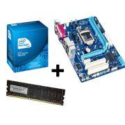 Kit Intel Dual Core G2030 3.0Ghz, Placa Mãe Gigabyte GA-H61M-S2PH c/paralelo e serial, Memória de 4GB DDR3 1600Mhz Logic