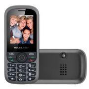 Celular Tri Chip Com Câmera, Rádio FM, e MP3 P3274 Cinza - Multilaser