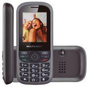 Celular Up Dual Chip, C/ Câmera, MP3, Rádio FM, 3G e Bluetooth P3292 Preto - Multilaser
