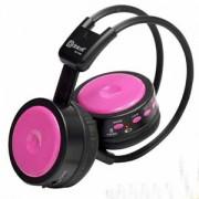 Fone de Ouvido Sem Fio Rosa com Leitor de Cartoes e Radio FM DC-F200/PINK - Dotcell