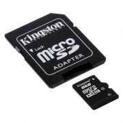 Cartão de Memória Micro SD 8GB Classe 10 + Adaptador SDC10G2/8GB - Kingston