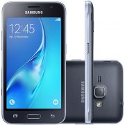 Smartphone Galaxy J1 Duos J120H/DS, Quad Core 1.2 GHz, Android 5.1, Tela 4.5, 8GB, 5MP, 3G, Preto - Samsung