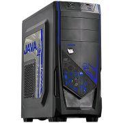 Gabinete Mid Tower Java Azul lateral de acrílico JAVAPTOAZ2FCA 23584 - Pcyes
