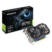 Placa de Vídeo Geforce GTX750 Ti 2GB DDR5 128Bits GV-N75TOC2-2GI - Gigabyte