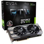 Placa de Vídeo GeForce GTX 1070 FTW Gaming ACX 3.0 8GB DDR5 256BITS 08G-P4-6276-KR - EVGA
