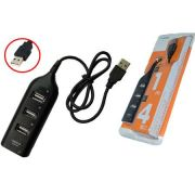 Hub USB 4 Portas Preto HUB0004B - OEM