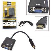 Cabo Conversor HDMI para VGA Fêmea com Áudio 24cm CB0109B - OEM