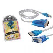 Conversor USB para Serial DB9 80cm RS232 AD0018 - Lotus/Exbom