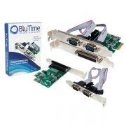 Placa PCI-Express 2 Seriais e 1 Paralela PC0012 - Blu Time