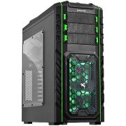 Gabinete Mid Tower Pegasus Hot Swap Fan Led Verde PEGASUSPTOAZ3FCA 21501 - Pcyes