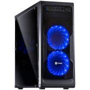 Gabinete Mid Tower VX Gaming Guardian Preto Full Window 02 Fan Frontal Led Azul 26013 GRDPTOAZ2FCA - Vinik