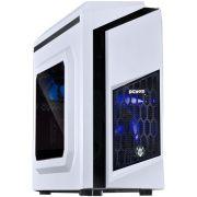 Gabinete Mid Tower White DWARF Fan Led Azul DWABCOPT2FCA 25990 - Pcyes