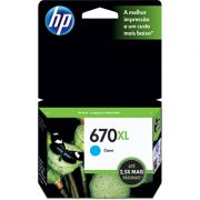 Cartucho HP 670XL Ciano CZ118AB - HP