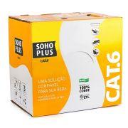 Caixa de Cabo de Rede CAT6 Sohoplus 305 Metros Azul U/UTP 24AWGX4P 26522 - Furukawa