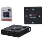 HUB HDMI 3 Portas (Entrada) e 1 (Saída) com Chave Seletora HUB0008 - OEM