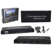 Splitter Divisor HDMI 1.4v com 4 Saídas 3D e 1 Entrada 1080p HUB0028 - OEM
