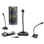 Microfone Multimidia PC Notebook Plug P2 Estéreo MIC-1200 (MIC0020) - Infokit