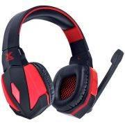 Fone de Ouvido Gamer com Microfone Vx Dagda 7.1 USB / LED Vermelho/Preto 25828 - Vinik