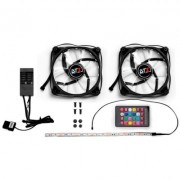 Kit de Coolers para Gabinete HD120 DUO RGB 120mm com Controle Remoto 11002-4 - DT3 Sports