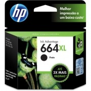 Cartucho 664XL Preto F6V31AB - HP